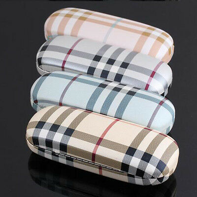 Eyeglasses Box Hard Plaid Eyewear Sunglasses Holder Case Bag Spectacle Case