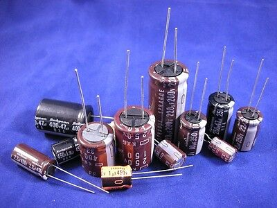 High-Voltage Radial Electrolytic - Kit, includes 12 different values