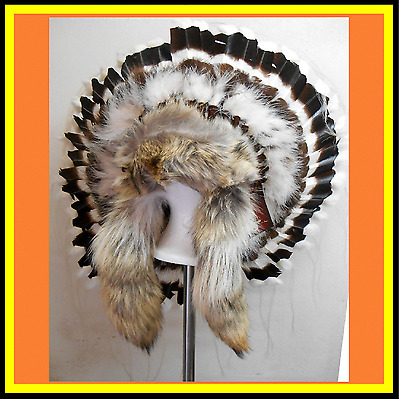 Genuine Native American Navajo Indian headdress 36 inch ALL NATIONS TRADITIONAL