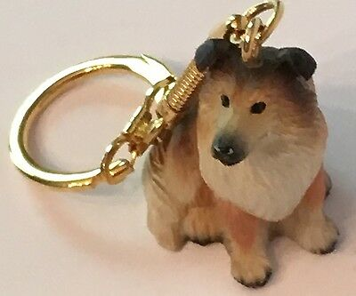 Rough Sable Collie Keychain Key Chain - support collie rescue