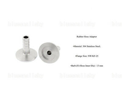 USA KF25 Stainless Steel 304 Flange to OD 13mm Rubber Hose Barb Vacuum Adapter