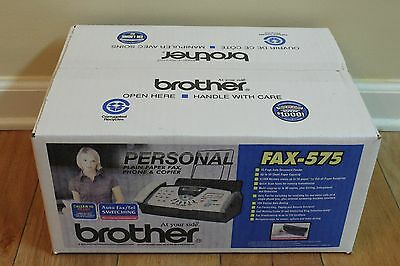 *new Sealed* Brother Fax-575 Plain Paper Fax Phone Copier Cost Vary By Locations