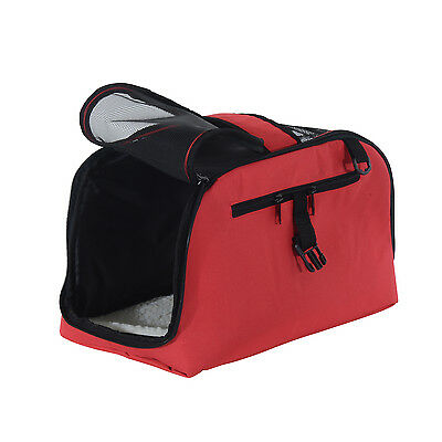 Sac de transport pour chien chat animal de compagnie rouge 43 cm charge max.10kg