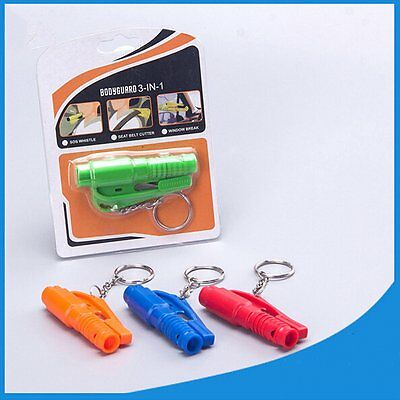 Keychain Car Emergency Rescue Safety Glass Breaker Hammer Escape Tool New