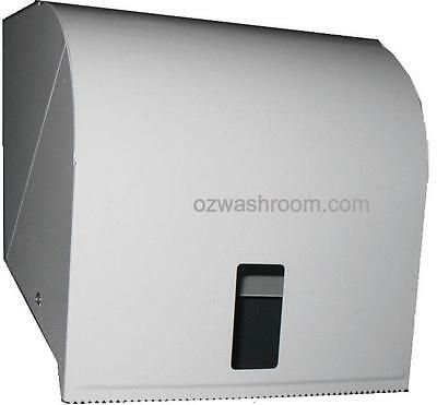 R001W Ozwashroom White Metal paper Towel Roll Dispenser, White coated metal Pape