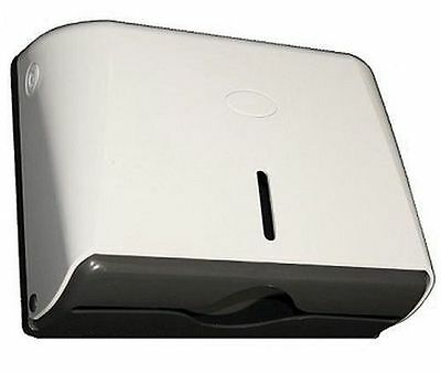 TD5W Ozwashroom Slim Paper Towel Dispenser, Constructed of Strong ABS white, wit