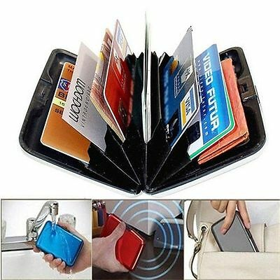 Metal Aluminum Wallet RFID Blocking Crash Proof Credit Card Holder Case Pocket