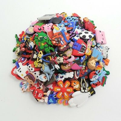 Free Shipping 50pcs Random Shoe Charms/Buckles For Croc&Jibbitz Wristbands