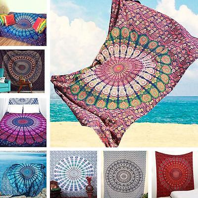 Indian Twin Size Bohemian Tapestry Wall Hanging Mandala Throw Hippie Bedspread ~