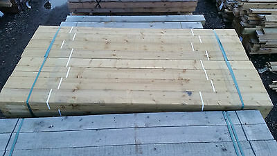 "Treated Fence Boards 150mm x 19mm x 2.4m  -  *Pack of 5*  -  6"" x 3/4"" x 8ft"