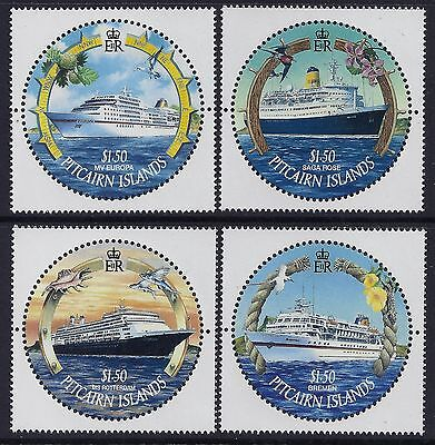 2001 Pitcairn Island Visiting Cruise Ships Set Of 4 Fine Mint Mnh/muh