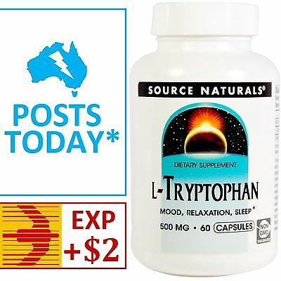 L-Tryptophan 500mg capsules x 60 - Source Naturals