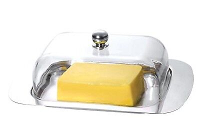 Renberg RB-4057 Stainless Steel Butter Dish & Acrylic Lid