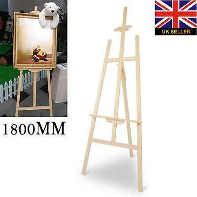 New PINE WOOD WOODEN STUDIO EASEL  (1800MM HIGH) ARTIST ART CRAFT DISPLAY