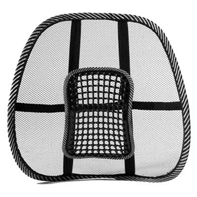 Lumbar Back Support For Car Seat Chair Massage Mesh Ventilate Cushion Pad New