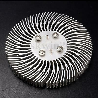 1Pcs 90mmx10mm Round Spiral Aluminum Alloy Heat Sink for High Power 10W LED Lamp