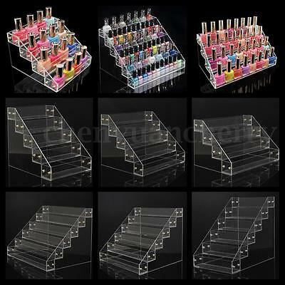 10 Style Nail Polish Acrylic Clear Makeup Display Stand Rack Organizer Holder