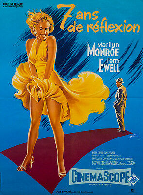 Original French, The Seven Year Itch, Film/Movie Poster, Moyenne, Marilyn