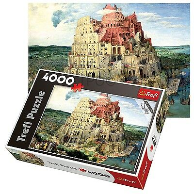 Trefl 4000 Piece Adult Large Floor Babel Tower Bible Holy Old Jigsaw Puzzle NEW