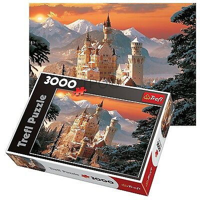 Trefl 3000 Piece Adult Large Neuschwanstein Castle Germany Winter Jigsaw Puzzle