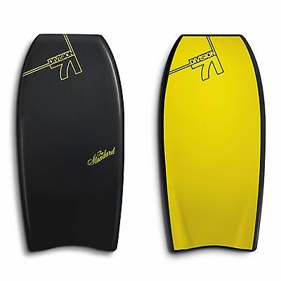 """Catch Surf Division 71 'the Standard - 44""""' Bodyboard D71 Black & Yellow"""