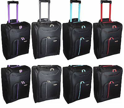 New Cabin Travel Wheeled Lightweight Bag Hand Luggage Suitcase Holdall Trolley