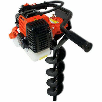 Sherpa 52cc Petrol Earth Auger Post Hole Digger Kit with 3 Auger Attachments