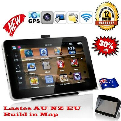 "7"" Inch GPS Navigator HD 8G Car FM The Latest AU NZ EU 48 Countries 3D 256Ram"