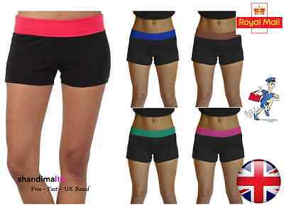 New Womens Fitness Sports Gym Running Shorts Yoga Jogging Trousers UK 8-14