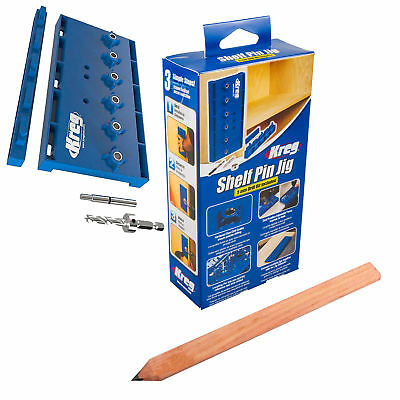 Kreg Shelf Pin Jig Kit Woodworking Carpentry Tool with Free Carpenters Pencil