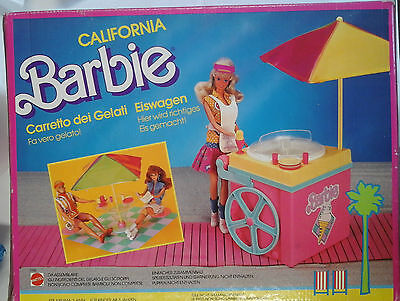 Barbie - Carretto Dei Gelati - Ice Cream Cart - Cafe'-Glacier - Mattel - 1987