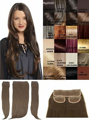 New 3 Piece Set Weft 24'' Long Clip In Straight High Quality Hair Extension