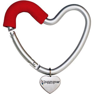 BuggyGear Buggy Heart Hook RedThe Bag Hanger for Strollers Shopping carts