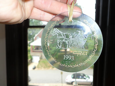 Terry Redlin Hadley Collection SLEIGH Winter GLASS 1993 Christmas Ornament NEW
