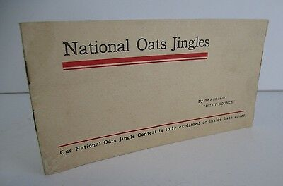 1909 NATIONAL OATS JINGLES Contest Booklet & Entry Card