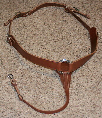 Custom Breastplate Jeremiah Watt Soft Oak Leather Breast Collar Endurance Hunt
