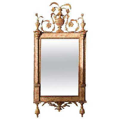Antique 18th Century Neoclassical Style Marble Mirror 104-20