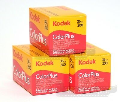Kodak Colorplus 200 35mm 36exp 3 Rolls Cheap Colour Print Film Free UK Postage