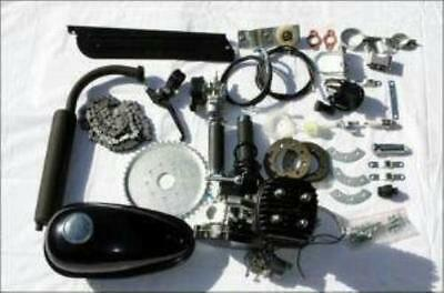 Zb-Jet80 Silver/black Slant Motorized 80Cc Bicycle Motor Gas Engine Bike Kit