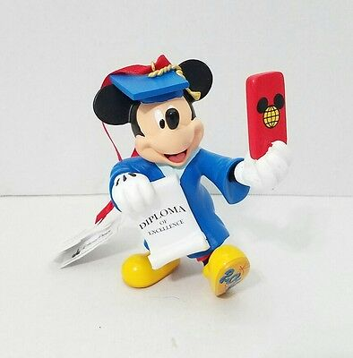 Disney Parks Mickey Mouse Graduation Selfie Christmas Holiday Figurine Ornament