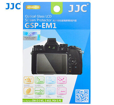 JJC GLASS LCD Screen Protector Film for Olympus OM-D E-M1 E-M10  EM5 Mk II_US