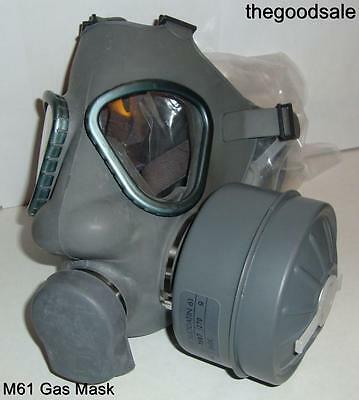 New Finnish M61 Military Gas Mask,Respirator with 40mm NBC Filter exp 2022