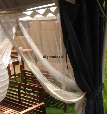 IKEA Lappon Mosquito net for gazebo x 4 zipped panels Brand New