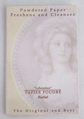 "Papier Poudre""Rachel"" Powdered Absorbent Blotting Face Papers Shine Removal 65pg"