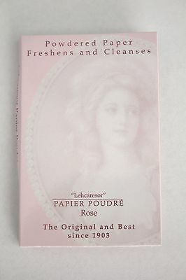 "Papier Poudre ""Rose"" Powdered Absorbent Blotting Face Papers Shine Removal 65pg"