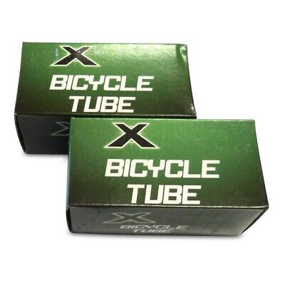 "2x (PAIR) Bent Valve 12 1/2 x 2 1/4"" Bike Tubes - X-Tech Brand 12"" Pram Tube"
