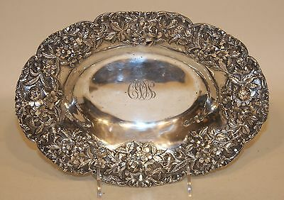 S. Kirk & Son Co. 232 Sterling Silver Repousse Oval Vegetable Bowl 362.5 Grams