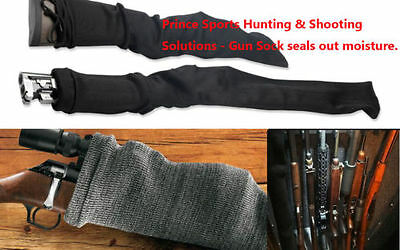 Black Hunt Pistol Revolver Handgun Silicone Treated Gun Sock Case Bag Sleeve 54""