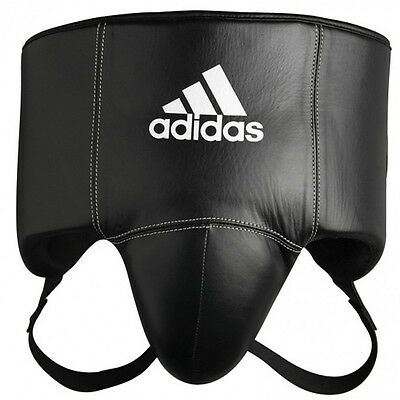 New adidas PRO Boxing Groin Full Protector Boxing Sparring Gear Genuine Leather