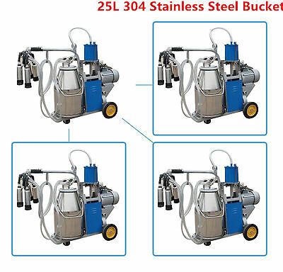 Electric Milking Machine Milker ca For form Cows Bucket  25L 304 Stainless Steel